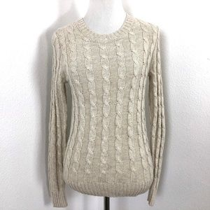 J Crew Factory Space Dye Cable Knit Sweater